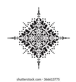 Circular pattern. Islamic ethnic ornament Vector illustration.