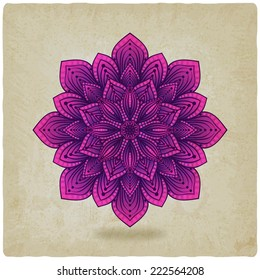 circular pattern mandala old background - vector illustration. eps 10