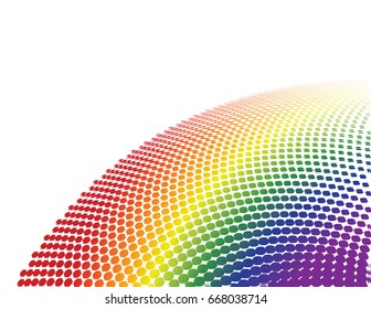 Circular Pattern Rainbow Colors Vector Illustration