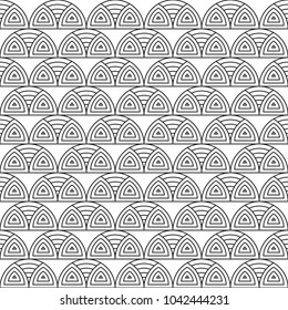 circular pattern vintage ornament black and white