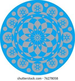 Circular psychedelic pattern