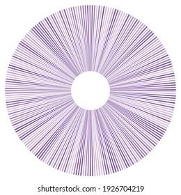 Circular radial lines volute, helix shape design element