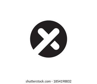 circular round emblem monogram anagram monoline lettermark logo of letter x o y plus 0
