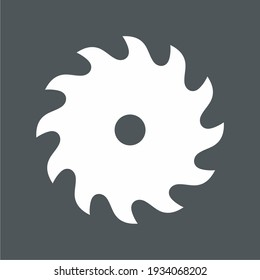 Circular saw blade icon quality vector illustration cut