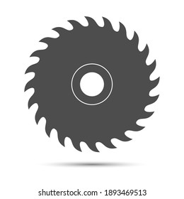 Circular saw blade. Simple vector illustration for websites, apps and theme design. Flat style.