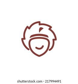 Circular saw saws acorn Branding Identity Corporate vector logo design template Isolated on a white background