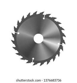 Circular saw. Vector illustration. Equipment for and construction