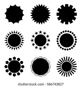 Circular shapes icon/logo set