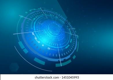 Circular Technology Background Design vector illustration - Vector