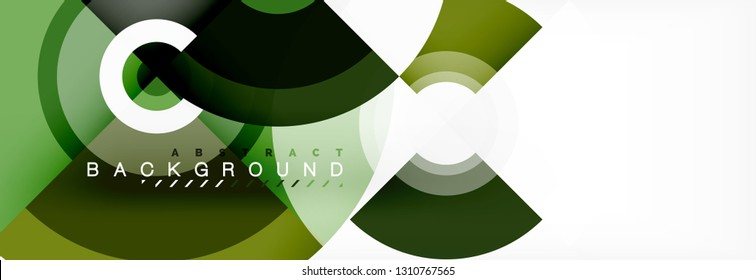 Circular vector abstract background, geometric style