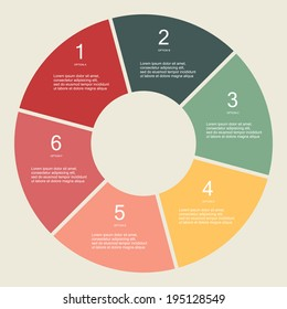 Circular Vector Info graphic for business project