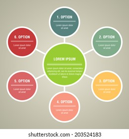 Circular Vector Info graphic for business project or presentation