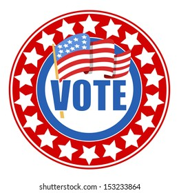 circular Vote badge - Election Day Vector Illustration