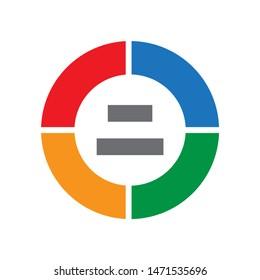 circular-chart icon. flat illustration of circular-chart - vector icon. circular-chart sign symbol