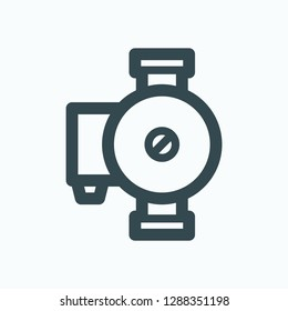 Circulation pump icon, hot water circulation pump vector icon