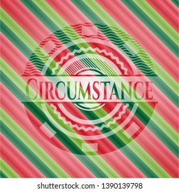 Circumstance christmas colors emblem. Vector Illustration. Detailed.