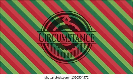 Circumstance christmas emblem.