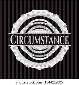 Circumstance silver badge or emblem