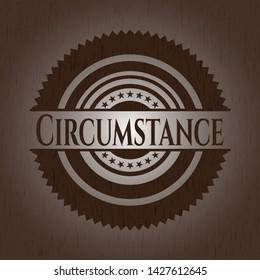 Circumstance wood emblem. Vintage. Vector Illustration.
