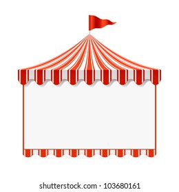 Circus advertisement background. Vector.