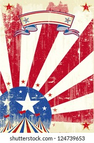 Circus of america.  A circus background for a poster on american theme.