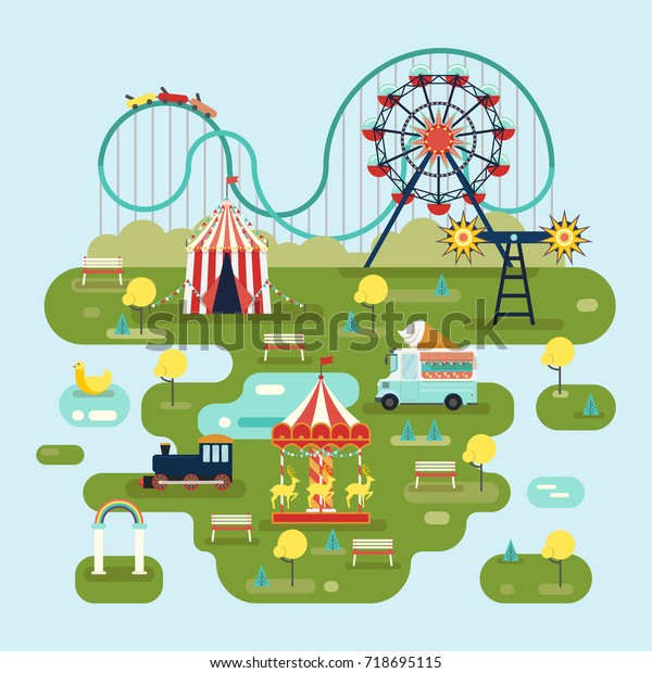 Circus Amut Park Map Roller Coaster Stock Vector ... on western town map, greater vancouver map, new amsterdam map, city of new orleans map, unr parking map, ancient persia map, valley of kings map, city limits map, st thomas map, circuit map, cowboy map, colosseum map, red map, storybook map, colonial house map, princess map, usa travel map, ancient world map, magic map, encore map,