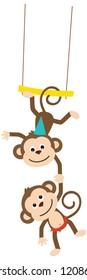 Circus Animals Trapeze Monkeys
