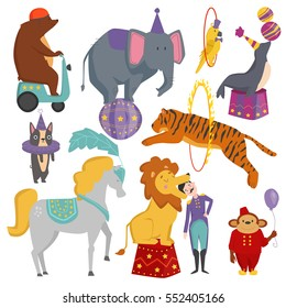 Circus animals vector illustration.