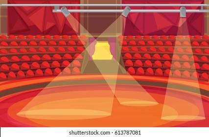 Circus arena. vector illustration