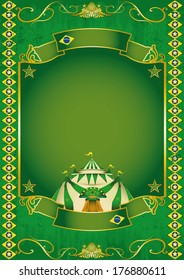 A circus background on brazilian theme