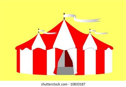 Circus Big Top Tent Vector Illustration