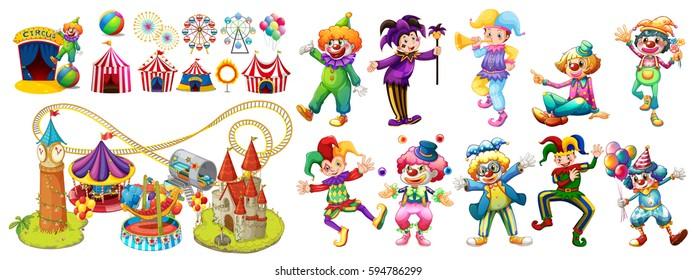 Ilustraciones Imágenes Y Vectores De Stock Sobre Circus Clown