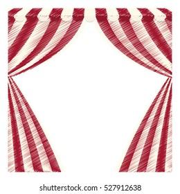 circus curtain raises icon vector illustration graphic design