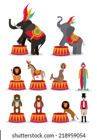 Circus design over white background, vector illustration