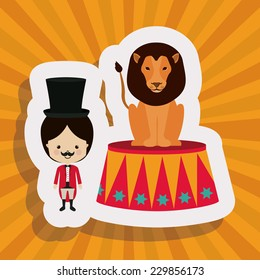 Circus design over yellow background,vector illustration