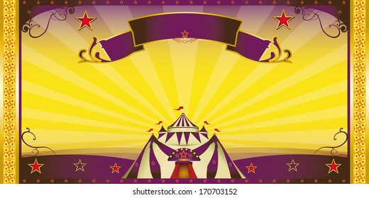 circus extra invitation. A circus invitation for you