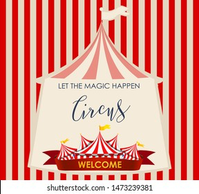 Circus, fun fair, amusement park theme template illustration