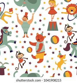Circus fun pattern