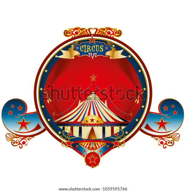 Une étiquette d'or de cirque pour vos loisirs