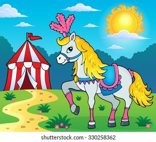 Circus horse theme image 3 - eps10 vector illustration.