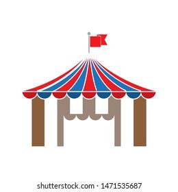 circus icon. flat illustration of circus - vector icon. circus sign symbol