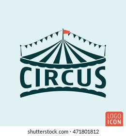 Circus icon. Circus tent symbol. Vector illustration