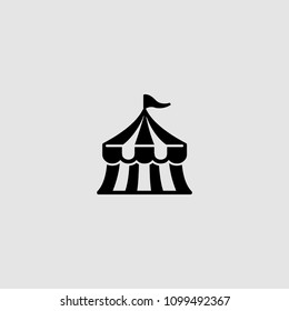 Circus icon. Vector circus illustration. Circus icon on gray backround