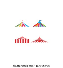 circus logo vector template design