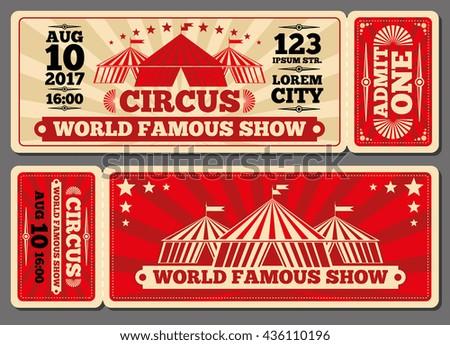 Circus magic show entrance vector tickets stock vector royalty free circus magic show entrance vector tickets templates ticket for entrance to circus and illustration template maxwellsz