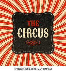 Circus poster background. Vector.