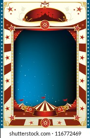 circus. A circus poster with a big top by night for you advertising.