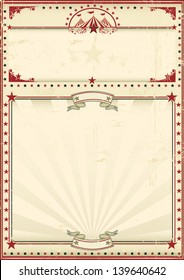Circus poster red vintage. A circus vintage poster for your advertising. Enjoy