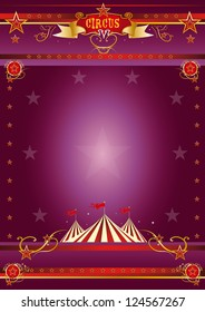 Circus purple poster. A circus purple poster for your show.