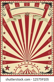 Circus red vintage.  a circus vintage poster for your show